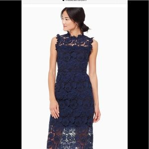 Kate Spade Bicolor Lace Midi Dress.  ECU.